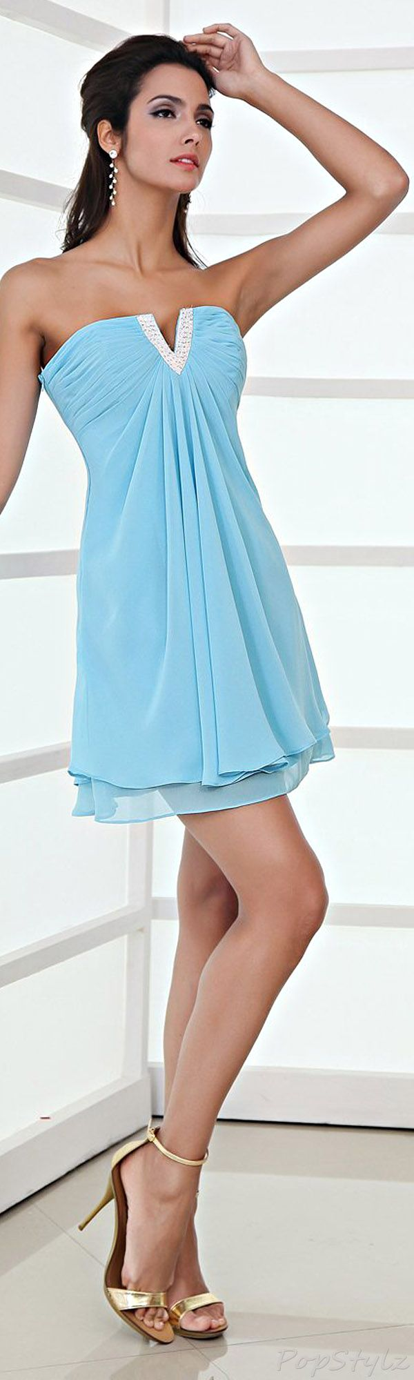 Honeystore Chiffon Short Dress | sai dresses 2 | Pinterest | Shorts ...