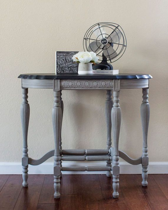 Vintage Console Table Radio Table Chalk Paint Furniture Annie