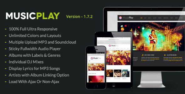 Downlaod MusicPlay - Music & DJ Responsive WordPress Theme - http ...