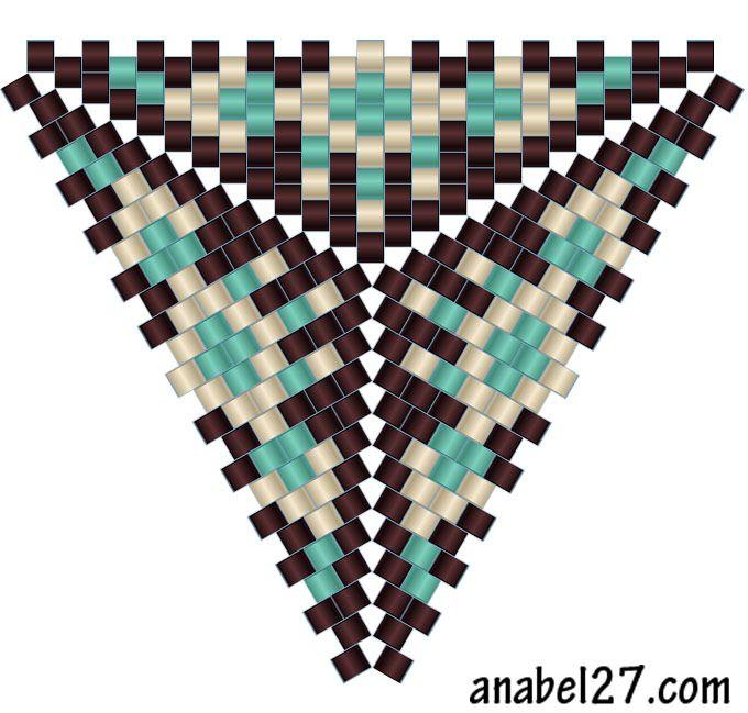 Схема треугольника - мозаичное