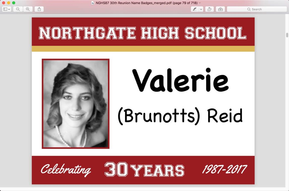 Image Result For Class Reunion Name Tags With Photos Reunion Name Tags 50th Class Reunion Ideas Class Reunion Name Tags