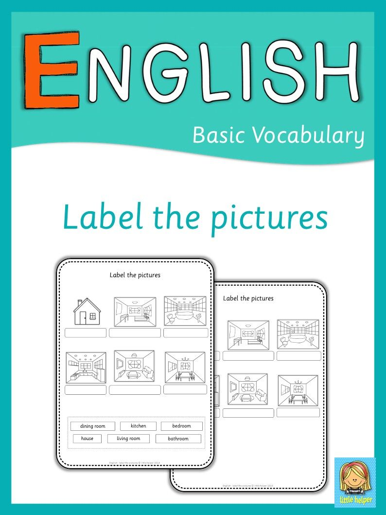 ESL label the pictures | English 4 | Pinterest | Worksheets ...
