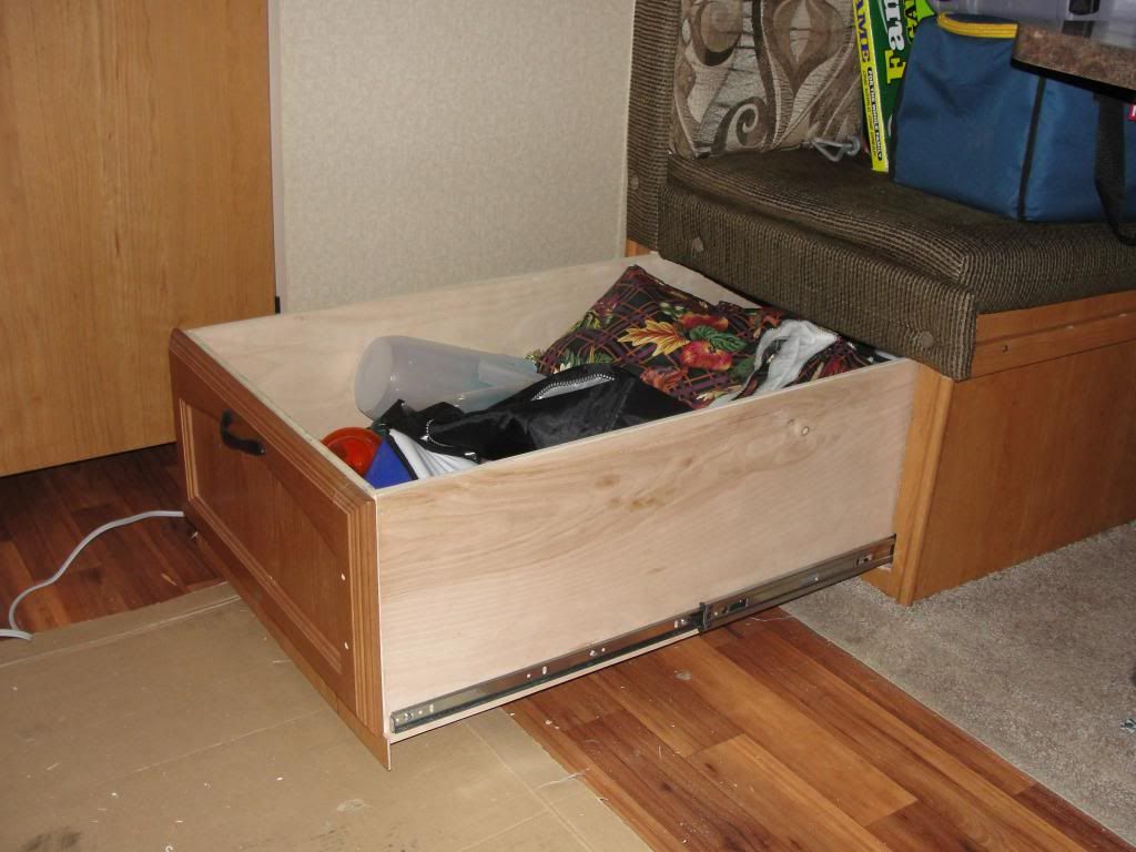 Window seat storage camps pinterest - Net Open Roads Forum Large Storage Drawer Under The Bench Seat
