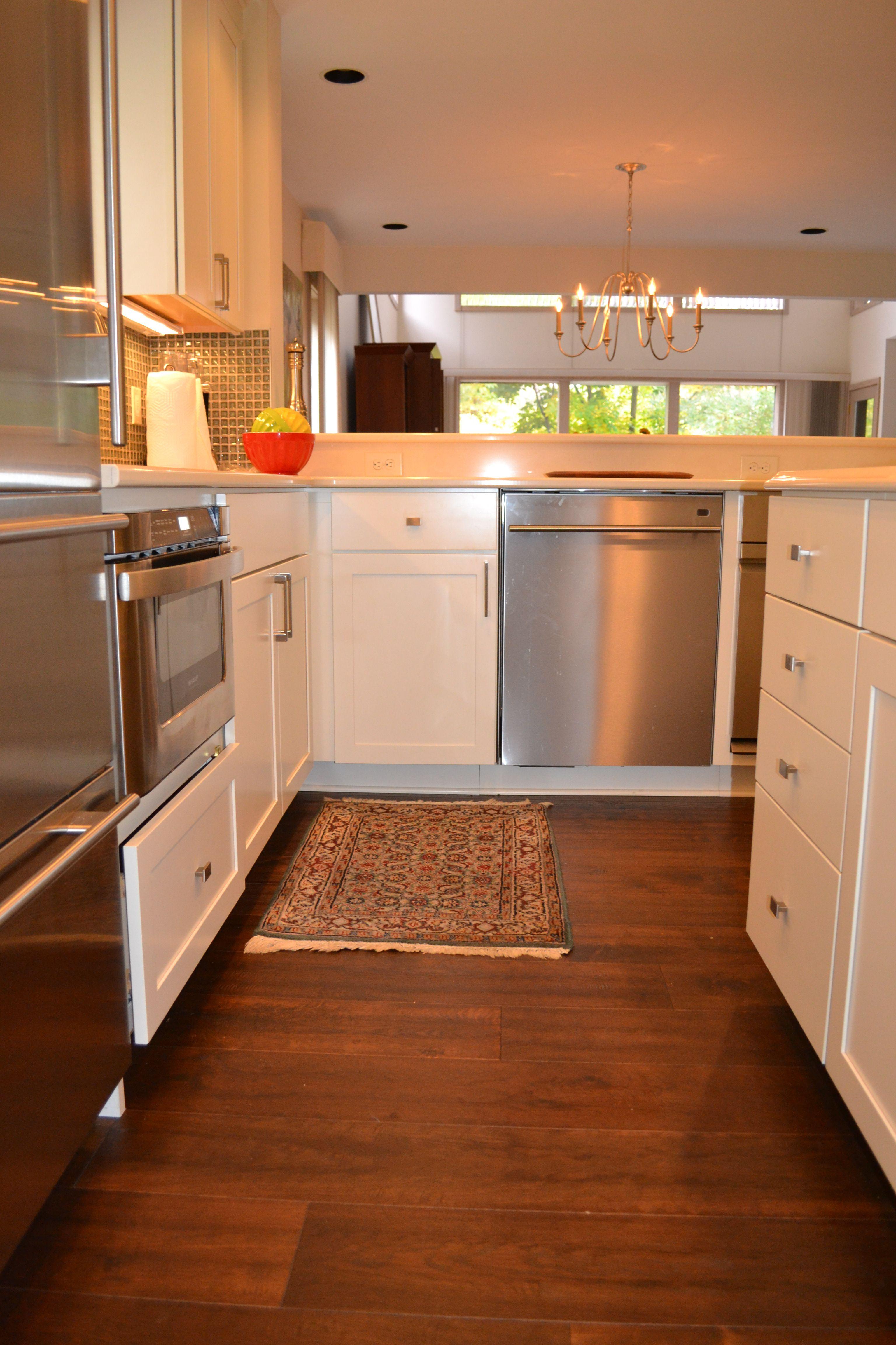 Dublin, Ohio Kitchen Remodel With Kraftmaid Lyndale Maple Canvas Cabinets  And Cuddington Cambria Quartz Countertops