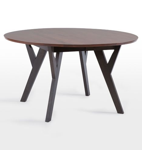Cascade Round Extendable Table D3512 54 Rd W 18 Leaf Round Extendable Dining Table