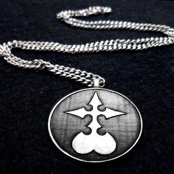 Clearance Kingdom Hearts Nobody Symbol Necklace Purely Eccentric