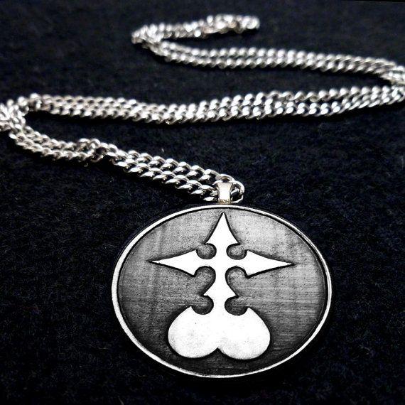 Kingdom Hearts Nobody Symbol Necklace By Boxinghobo On Etsy