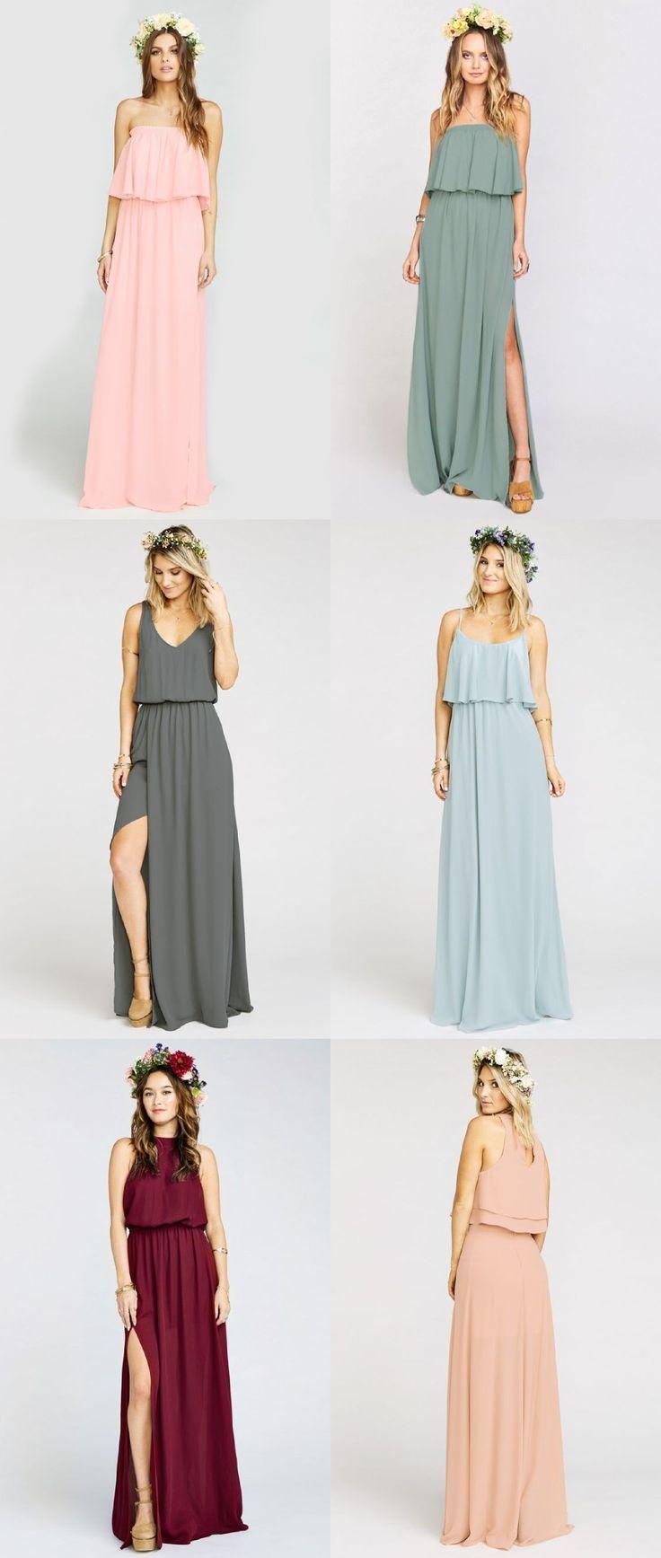 Boho Bridesmaid Dresses | Brautjungfern, Kleider und Selbstgemachte ...