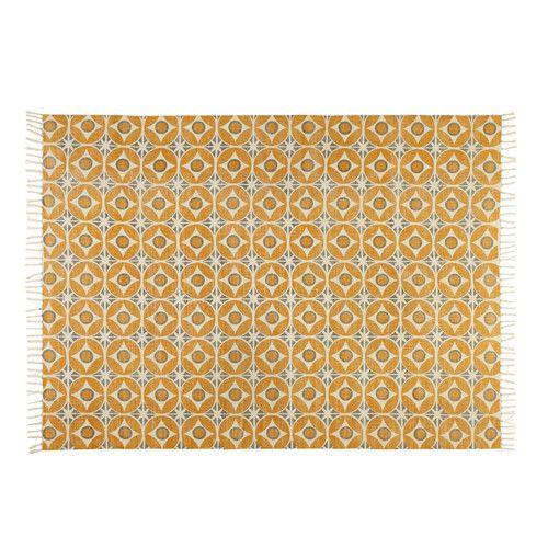 Teppich Aus Senfgelber Baumwolle 140x200cm Deutschdesign
