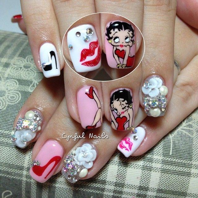 Betty Boop Nail Art Nails Design Pinterest Betty Boop