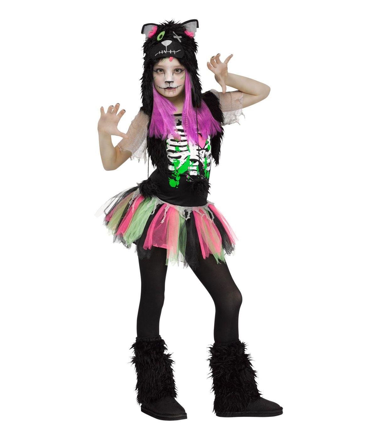 Zombie Kitty Cat Girls Costume Zombie Costumes Girl Zombie Costume Tween Halloween Costumes Zombie Costume Kids