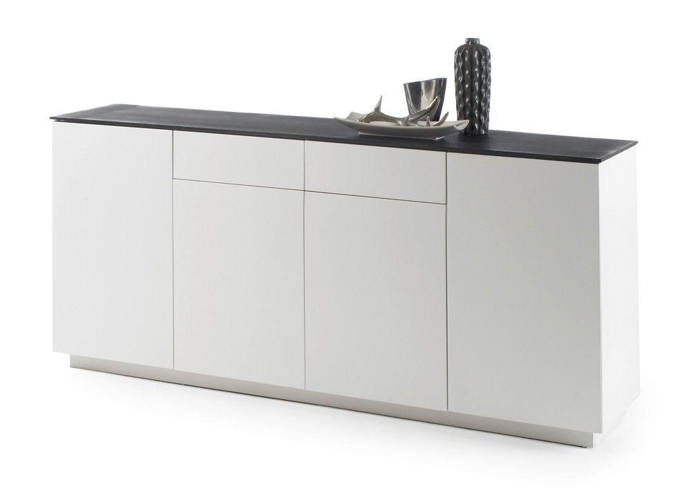 sideboard darwin wei matt glas steinoptik 20514 buy now at. Black Bedroom Furniture Sets. Home Design Ideas