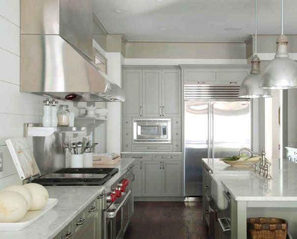 Cabinets Painted Benjamin Moore Gettysburg Gray With Plank Wood