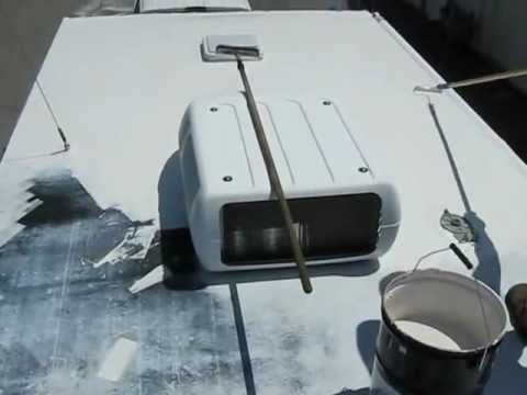 Rv Roof Repair With Liquid Roof Rv Roof Repair Roof Repair Rv Remodel