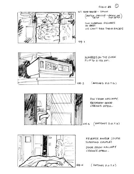 Scary Movie Storyboard Samples  Film Storyboards