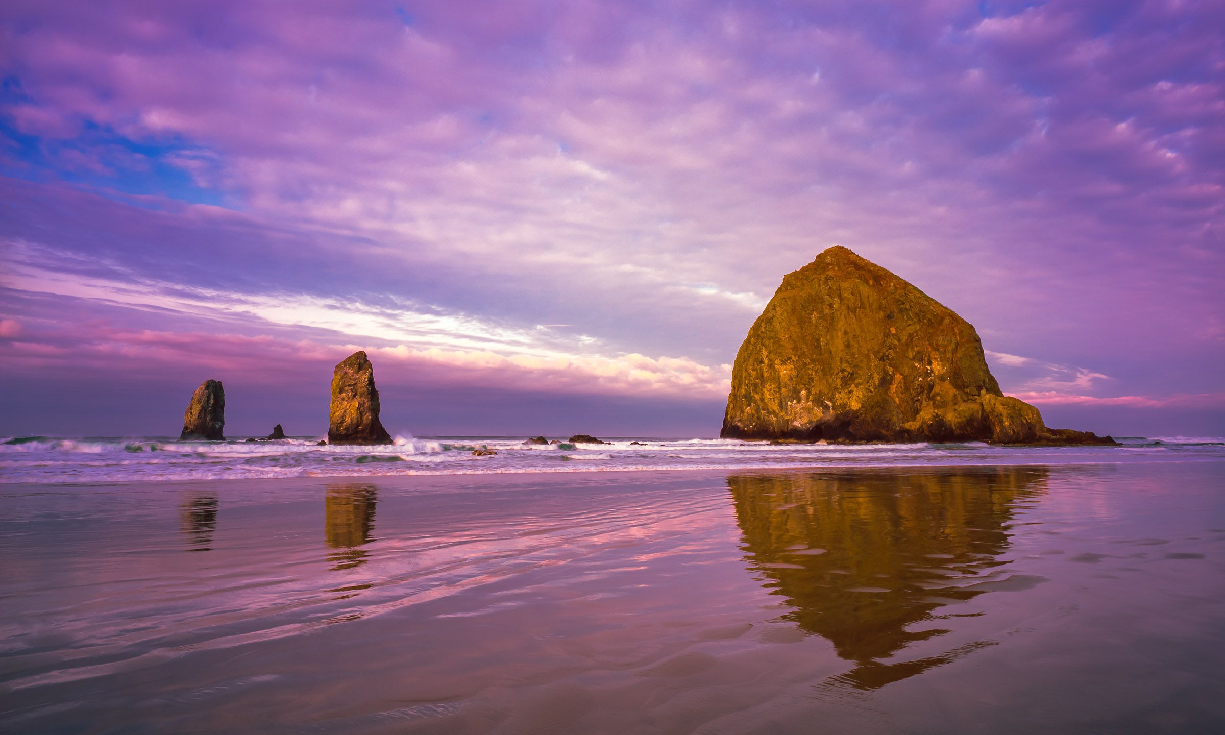 Cannon Beach Sunrise Oregon Coast