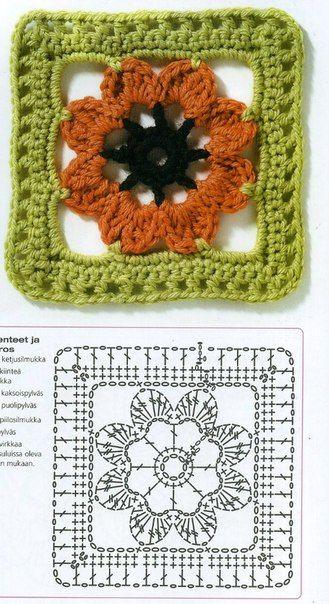 Delicadezas en crochet Gabriela: Patrones gratis cuadrados y ...