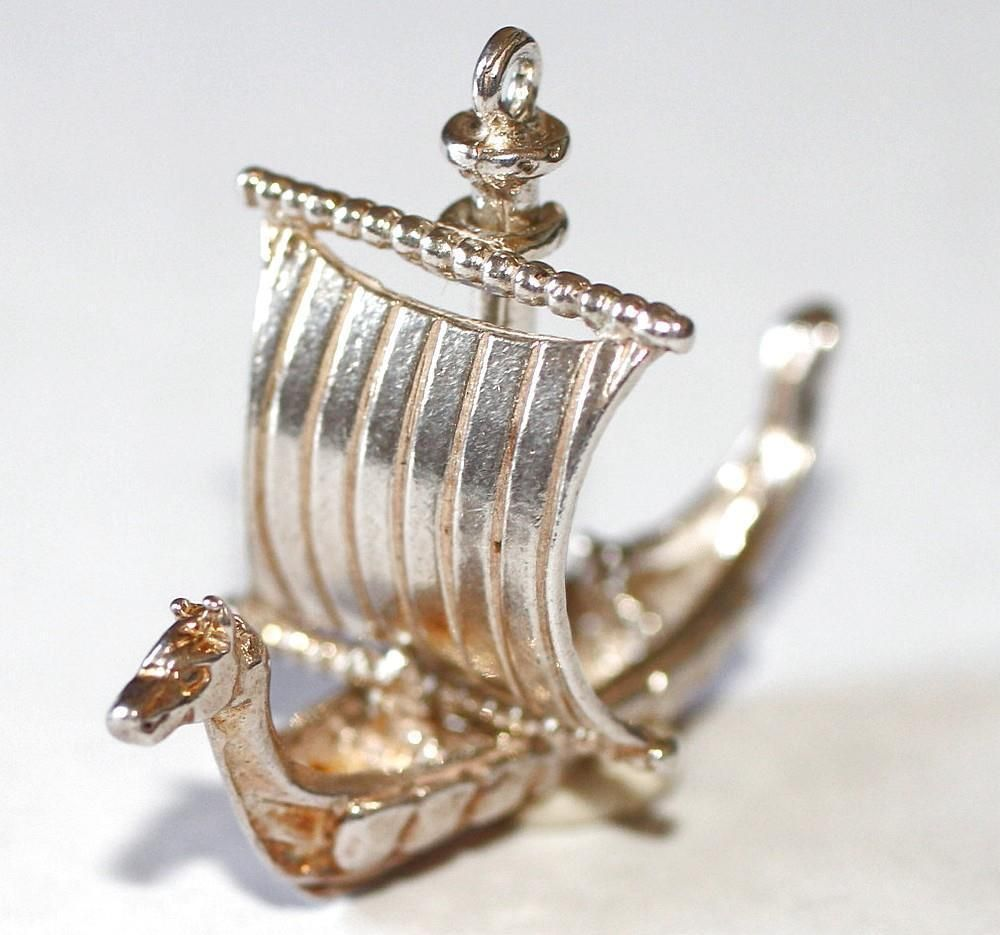 Sterling Silver Charm Viking