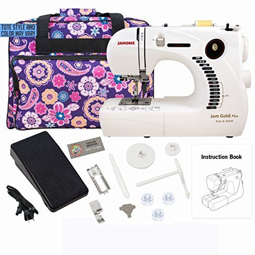 The Janome Jem Gold Plus 40G Trim And Stitch Is A Portable Yet Best Janome Basic 10 Stitch Portable Sewing Machine