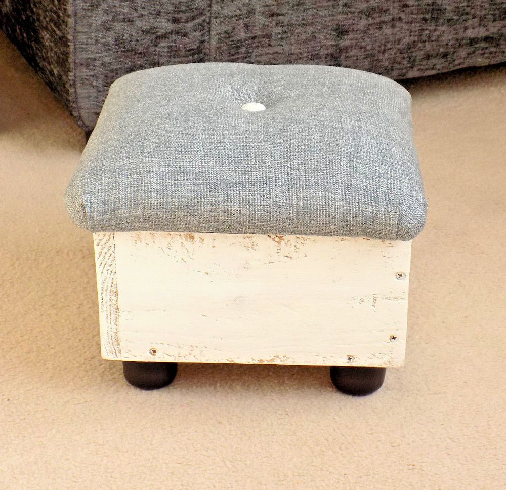 Unique Tiny Footstool Storage Wooden Box Handcrafted Footstools Kids Furniture Wooden Boxes Kids Furniture Footstool