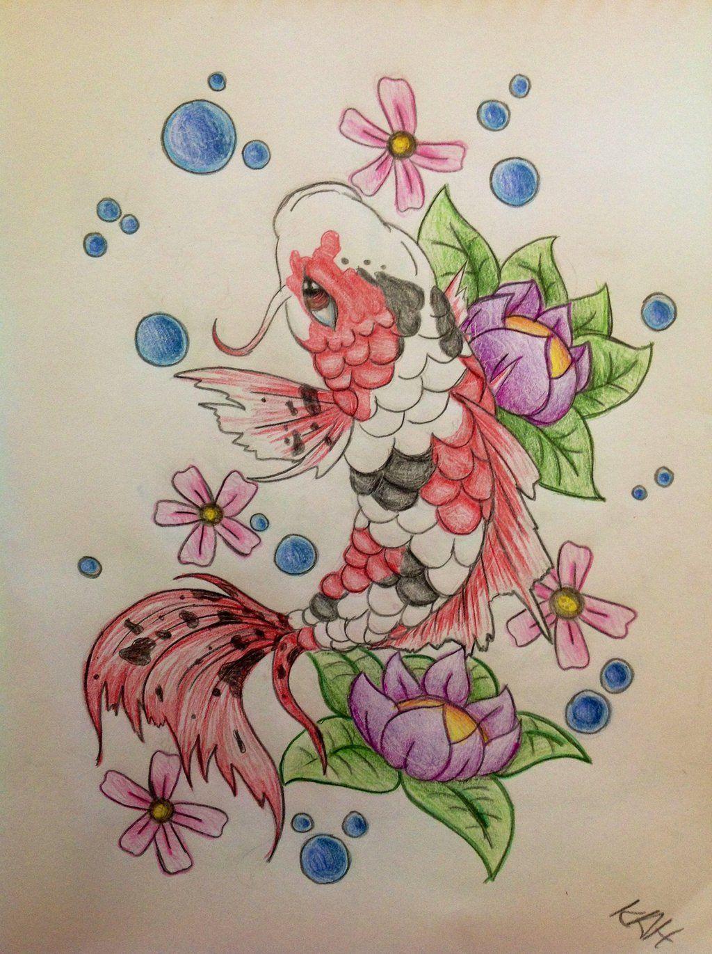 koi fish tattoos on hip Beautiful Koi Fish Drawings Koi