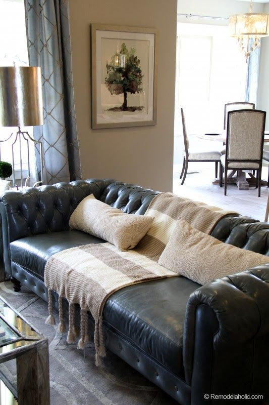 Love This Chesterfield Sofa Great Color Too Leather Sofa Living Room Couches Living Room Leather Couches Living Room