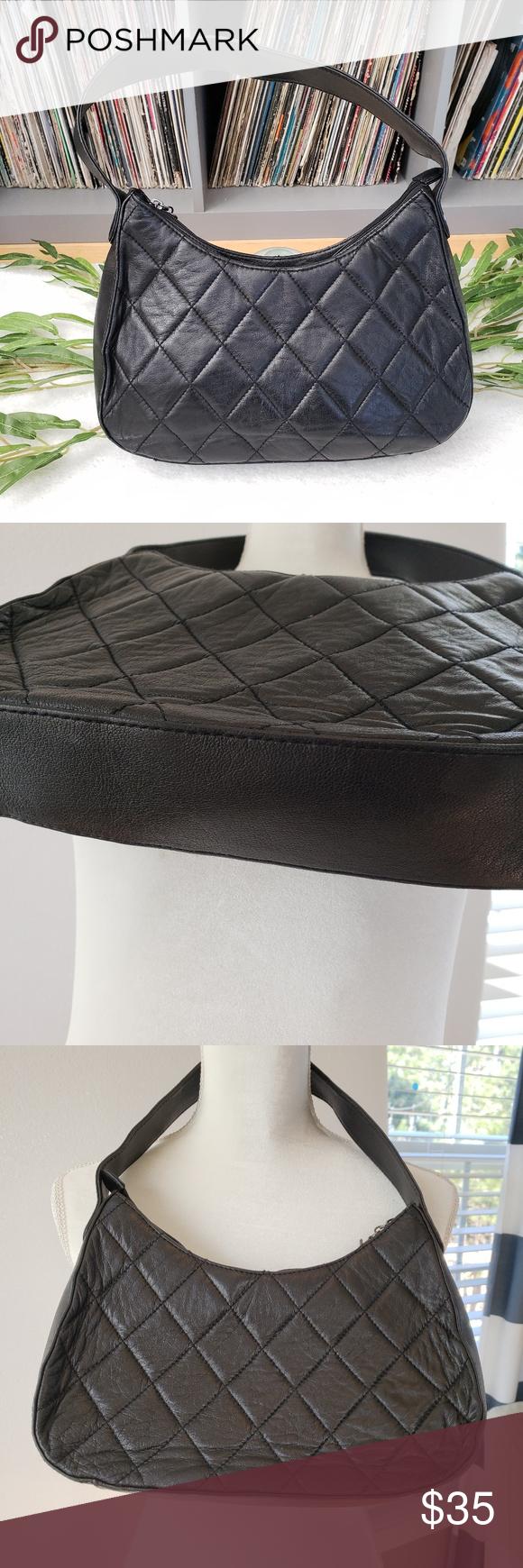 Wilsons Leather bag black quilted shoulder Venus Williams