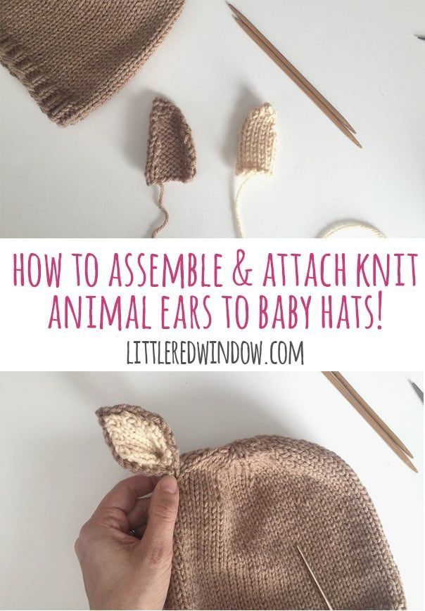 How To Assemble and Attach Animal Ears to Hats | Knitting Knitting ...