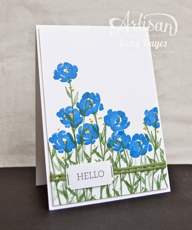 Join UK demonstrator Vicky Hayes on this week's Stampin' Up Artisan Design Team blog hop showing pretty covered notebook gifts and coordinating cards using Painted Petals.