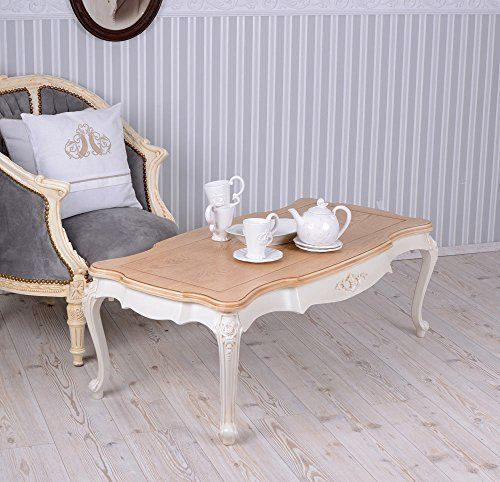 Wohnzimmertisch Villa Vintage Couchtisch Weiss Tisch Shabby