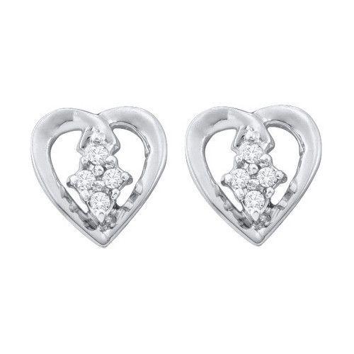 1/12CTW-Diamond HEART EARRING