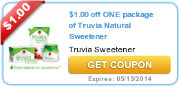 photograph regarding Truvia Coupons Printable named $1.00 off One particular offer of Truvia Organic Sweetener My