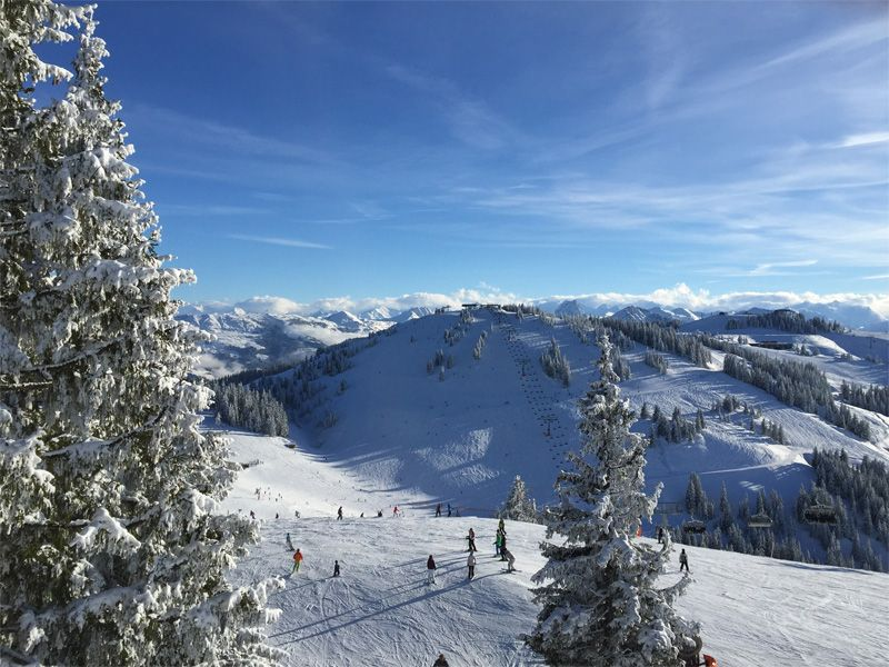 Scheffau/Austria - only a short drive from Munich. Huge resort with slopes for all levels. Spacious and broad runs, ideal with kids.