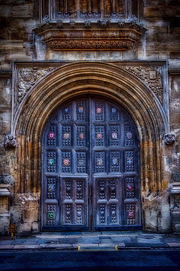 Bodleian Door, Oxford, England