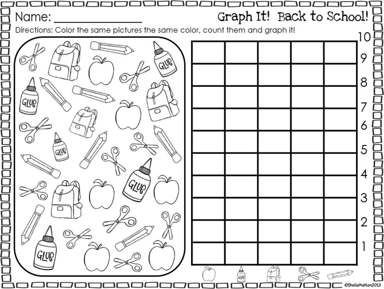 Graph It Back To School Freebie Back To School Worksheets School Worksheets Kindergarten Worksheets [ 887 x 1179 Pixel ]
