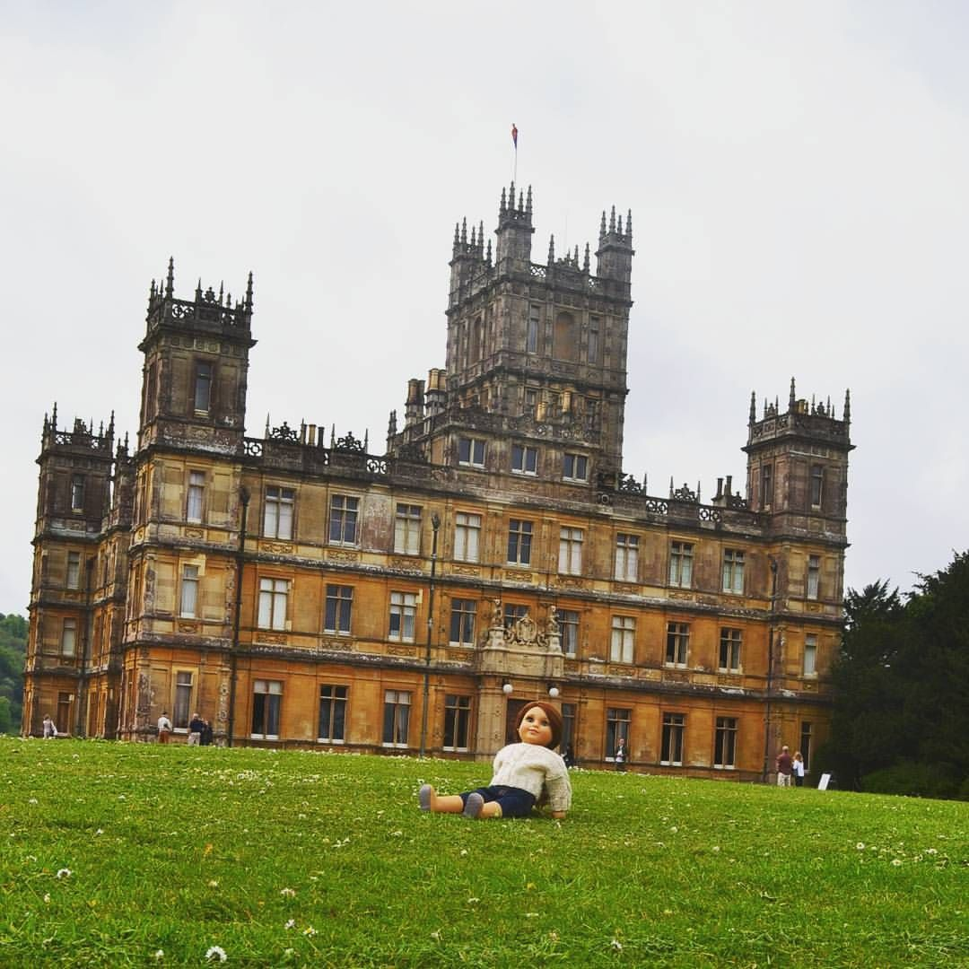 """145 Likes, 11 Comments - Elizabeth (@pemberleythreadsgirl) on Instagram: """"So the last picture of Austen was taken on the grounds of Highclere Castle, aka Downton Abbey 😍😍😍…"""""""