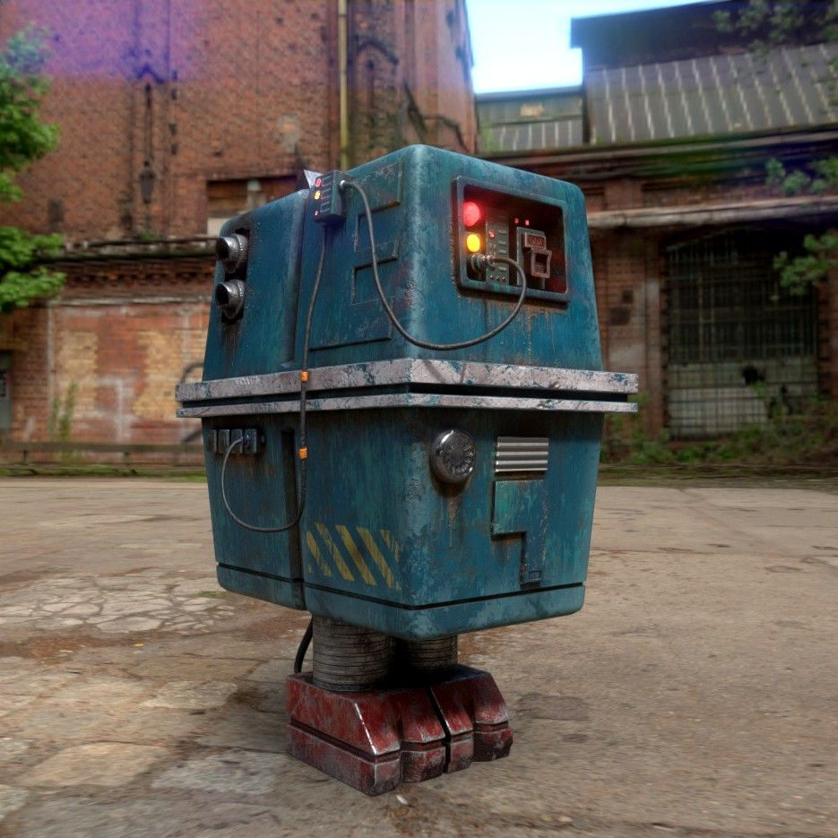Gonk Droid From Star Wars Cgi Model Star Wars Models