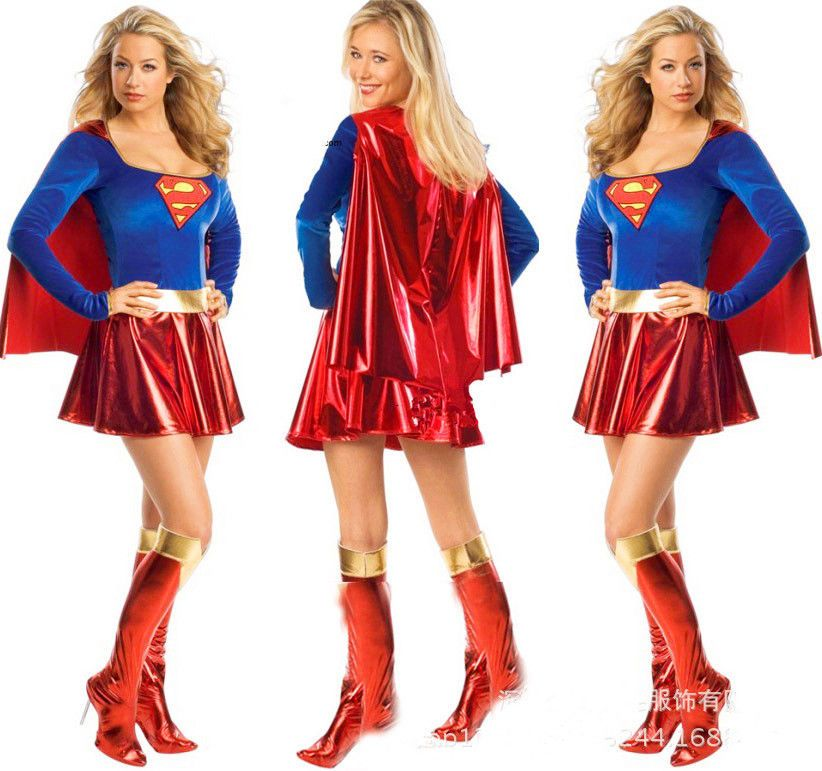 2015 Halloween Adult Sexy Womens Costume Superman Skirt Cosplay Dress Supergirl #Unbranded #Skirt