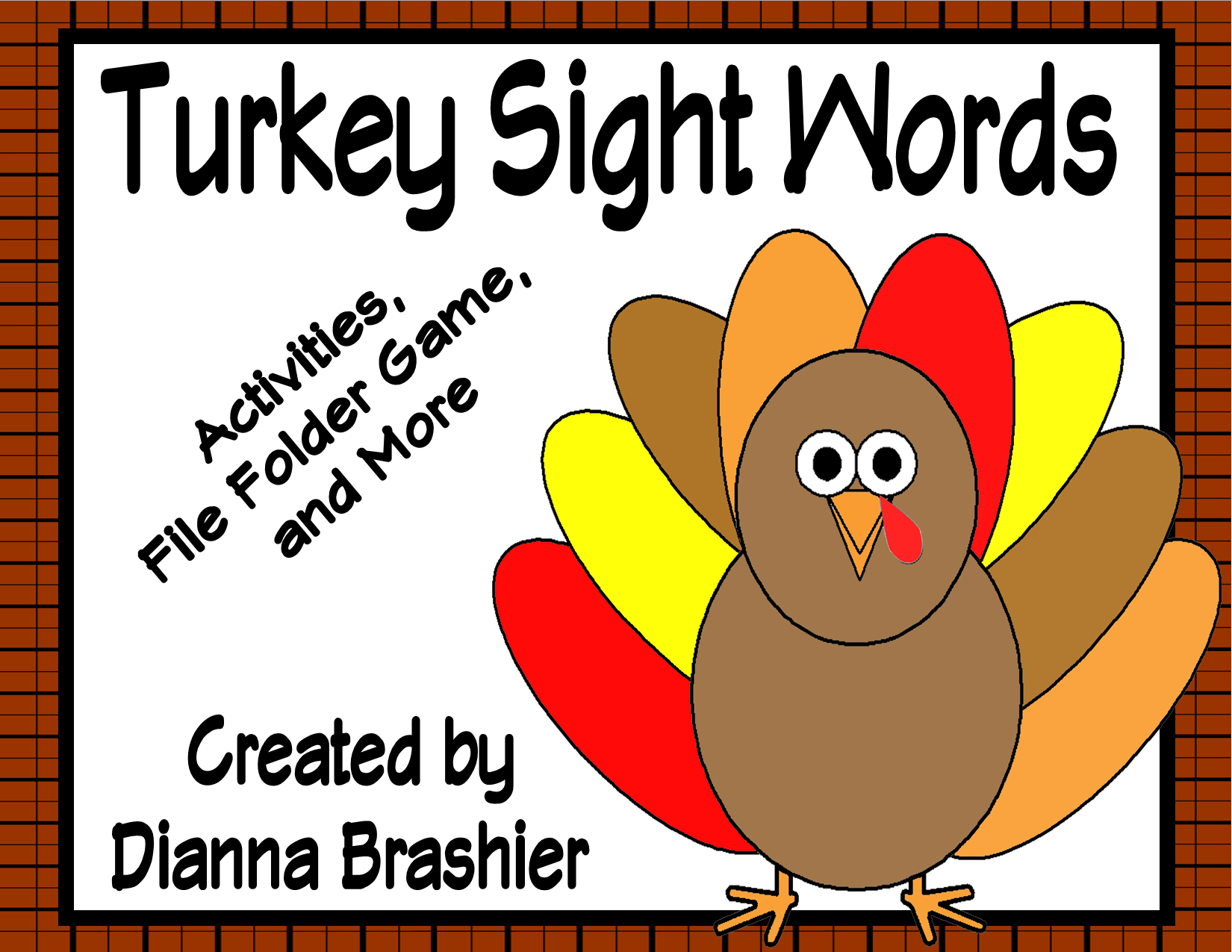 Turkey Theme Sight Words Activities High Frequency Words