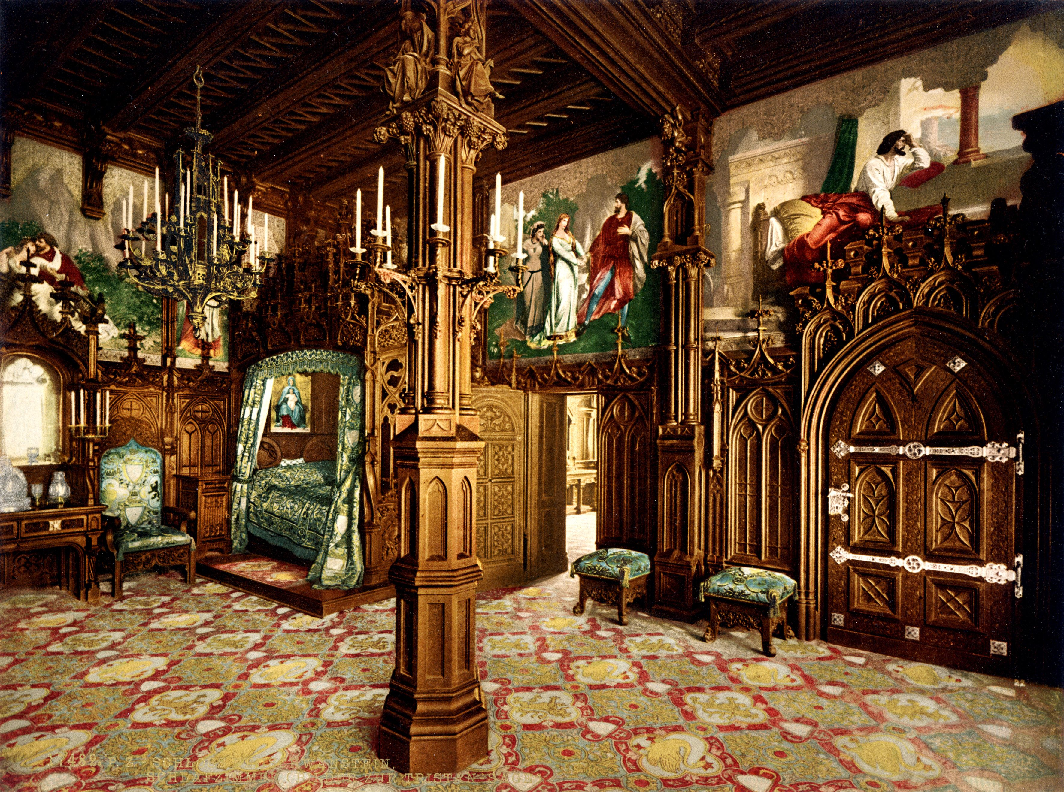 Medieval Bedroom Schloss Hohenschwangau Inside Castles Pinterest Castle