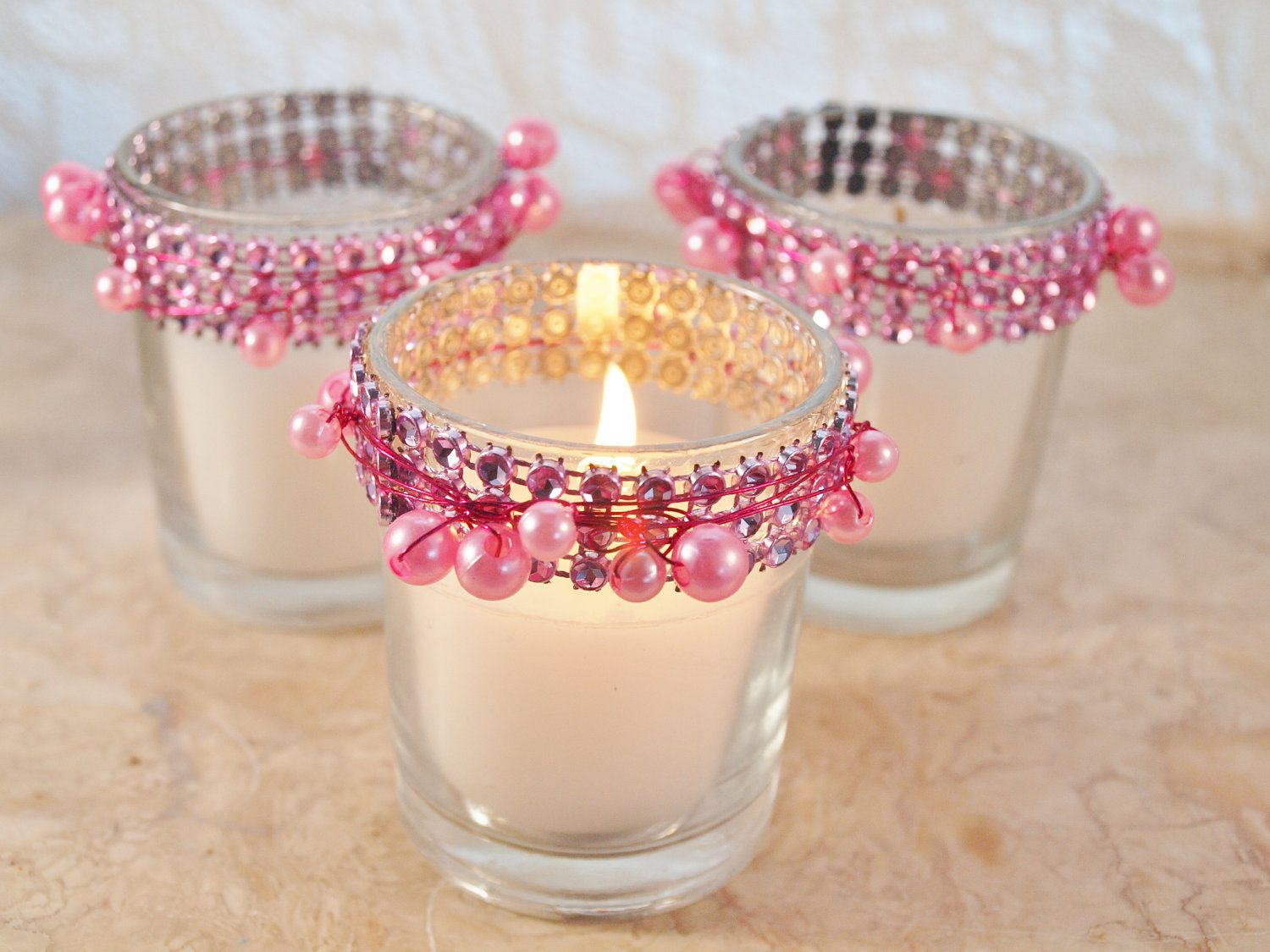 Bling candles (change to navy blue, etc. - miscellaneous decorations ...