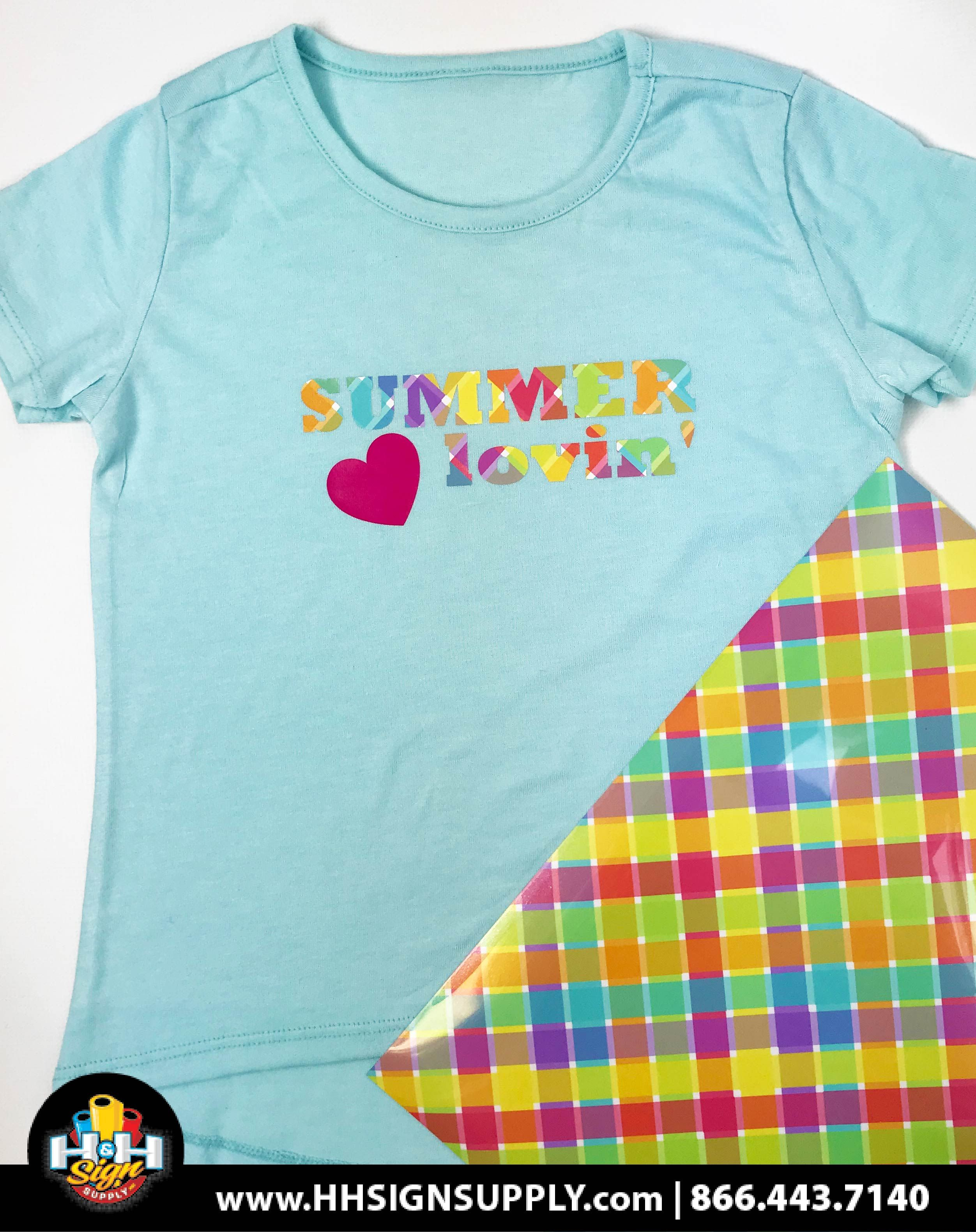 Pre Masked Bright Weave Heat Transfer Vinyl By The Foot Tee
