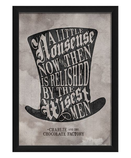 Take a look at the 'A Little Nonsense' Framed Print on #zulily today!