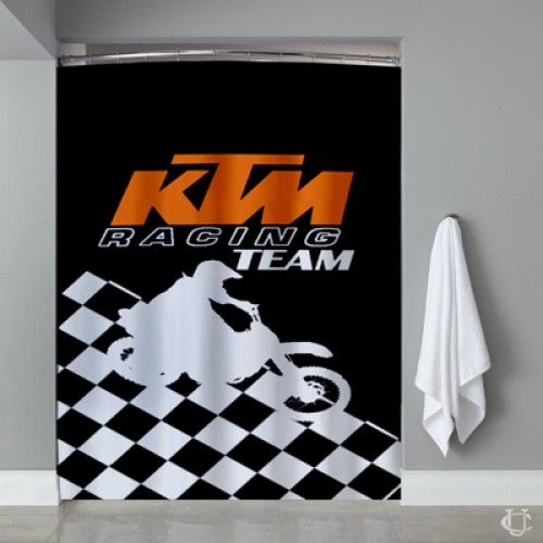 KTM Racing Team Motorcycles Shower Curtain