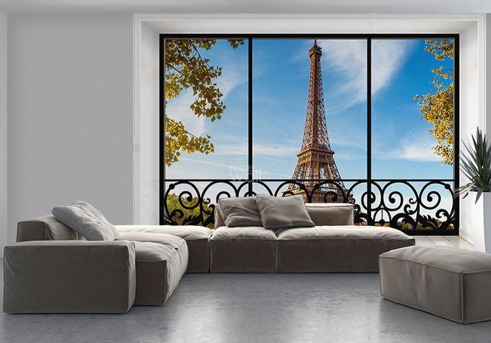 Giant size photo wallpapers Paris Eiffel Tower, New York ...  Giant size phot...