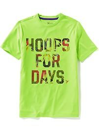 Relaxed-Fit Graphic Training Tee for Boys
