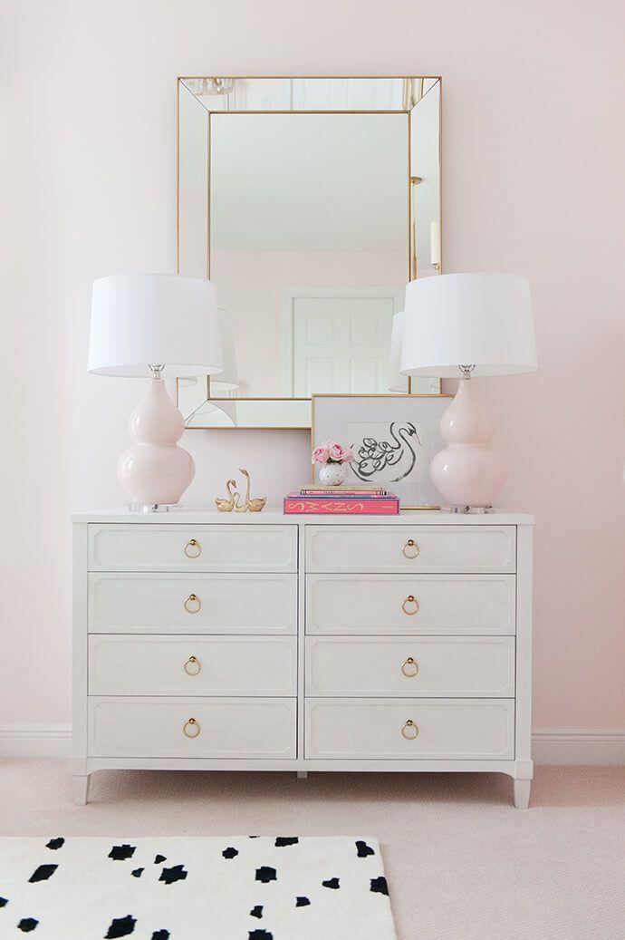 Touring A Sweet Swan Filled Nursery White Dresser