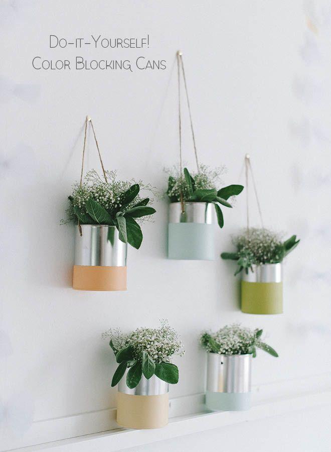 diy color blocking blechdosen f r die hochzeitsdeko fr ulein k sagt ja hochzeitsblog tin. Black Bedroom Furniture Sets. Home Design Ideas