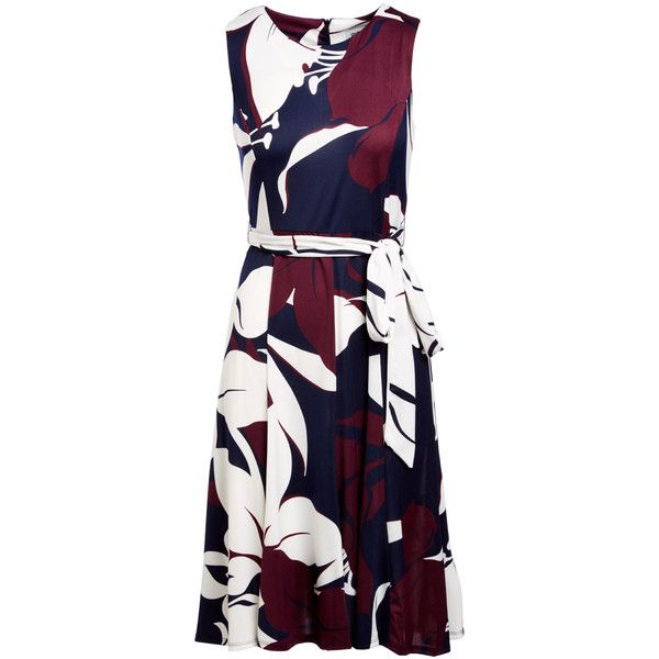 Shelby Palmer Plum Navy Floral Fit Flare Dress 20 Liked On Polyvore Featuring Dresses Long Dr Fit Flare Dress Floral Dresses Long Floral Blue Dress