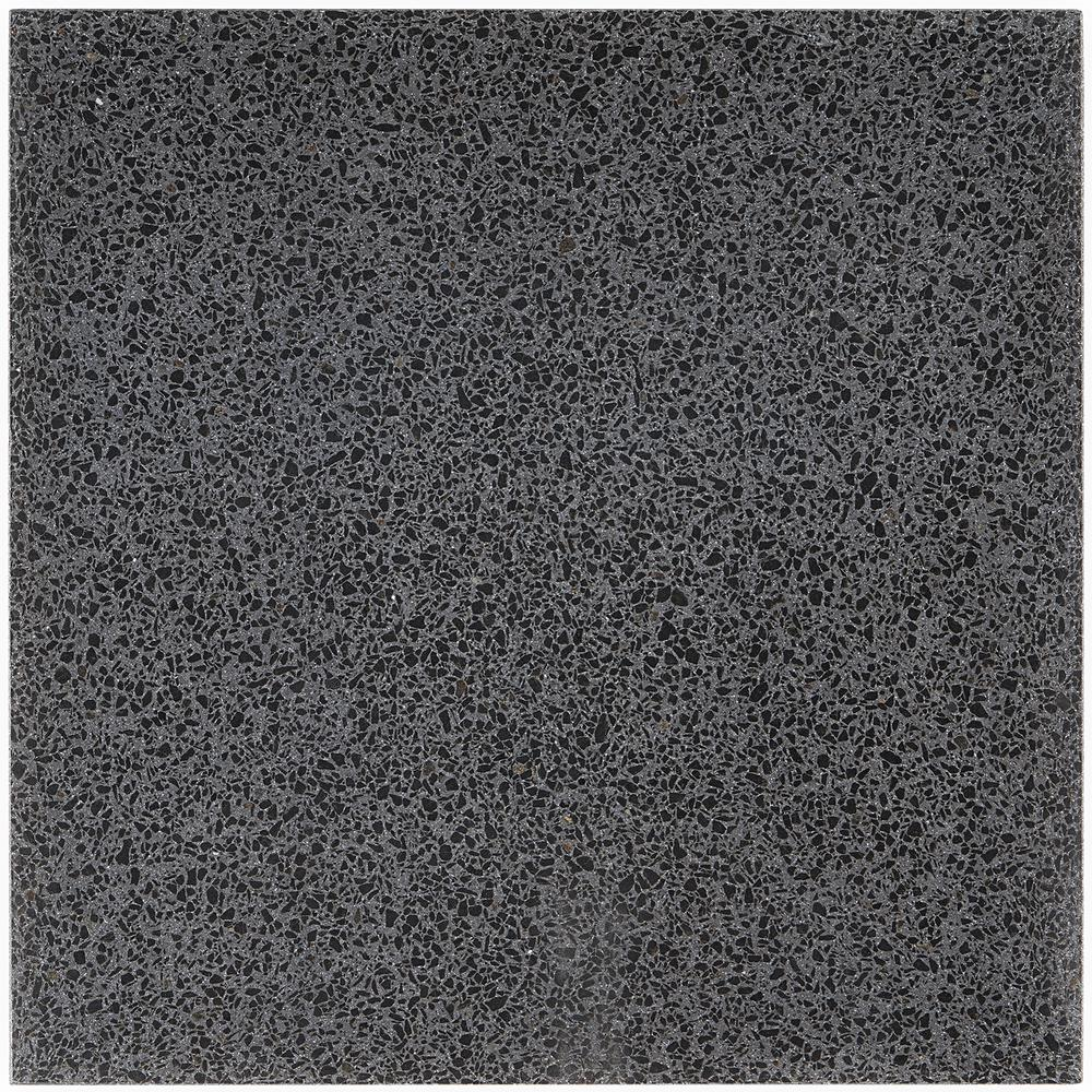 Ivy Hill Tile Raleigh Jet Square 16 in. x 16 in. Polished Cement Terrazzo Floor and Wall Tile (3.55 sq. ft./Case)-EXT3RD105172 - The Home Depot